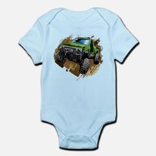 truck-green-crawl-mud Body Suit
