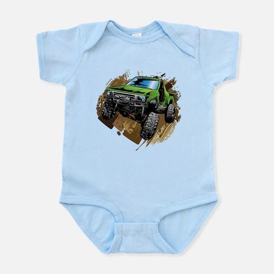 truck-green-crawl-mud Body Suit