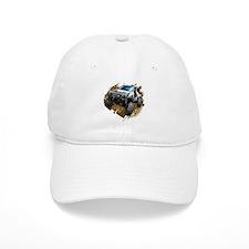 White Muddy Toyota Truck Baseball Baseball Cap