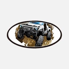 White Muddy Toyota Truck Patches