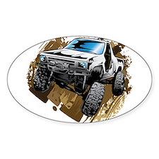 White Muddy Toyota Truck Decal