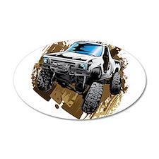 White Muddy Toyota Truck Wall Decal
