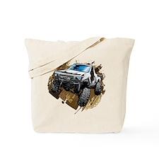 White Muddy Toyota Truck Tote Bag