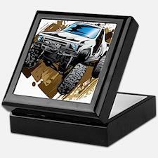 White Muddy Toyota Truck Keepsake Box