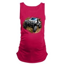 White Muddy Toyota Truck Maternity Tank Top