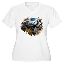 White Muddy Toyota Truck Plus Size T-Shirt