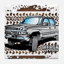 Chevy 4x4 Z71 Shirt Tile Coaster