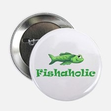 """FISHAHOLIC 2.25"""" Button (100 pack)"""