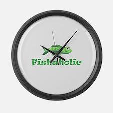FISHAHOLIC Large Wall Clock
