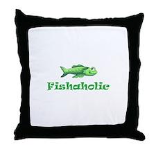 FISHAHOLIC Throw Pillow