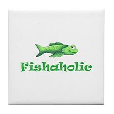 FISHAHOLIC Tile Coaster