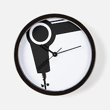 Hair dryer Wall Clock