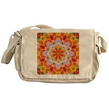 Flower Kaleidoscope Messenger Bag