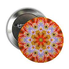 """Flower Kaleidoscope 2.25"""" Button"""