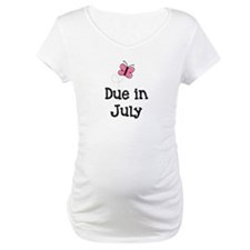 Due in July Butterfly Shirt