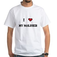 """""""I Heart My Soldier"""" White T-shirt"""