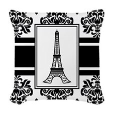 Eiffel Ornamental Stripe Woven Throw Pillow