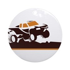 Trophy Truck Mud Run Ornament (Round)
