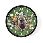 'Gods Play Ball' wall clock