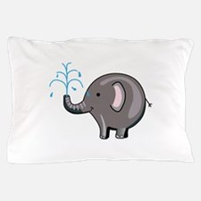 ELEPHANT SPRAYING WATER Pillow Case