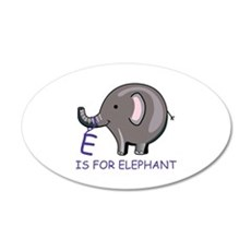 E Is For Elephant Wall Decal