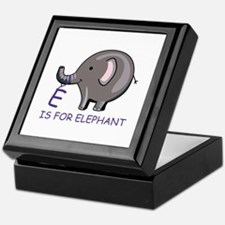 E Is For Elephant Keepsake Box