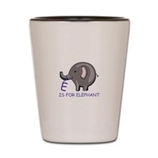 E Is For Elephant Shot Glass