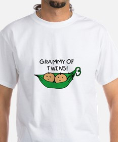 Grammy of Twins Pod White T-shirt