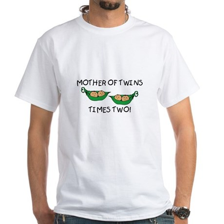 Mother of Twins X2 White T-shirt