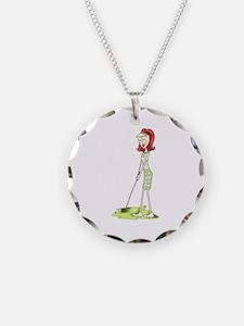 Lady Golfer Necklace