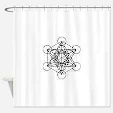 Metatron Cube Shower Curtain