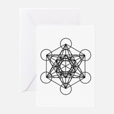 Metatron Cube Card Greeting Cards