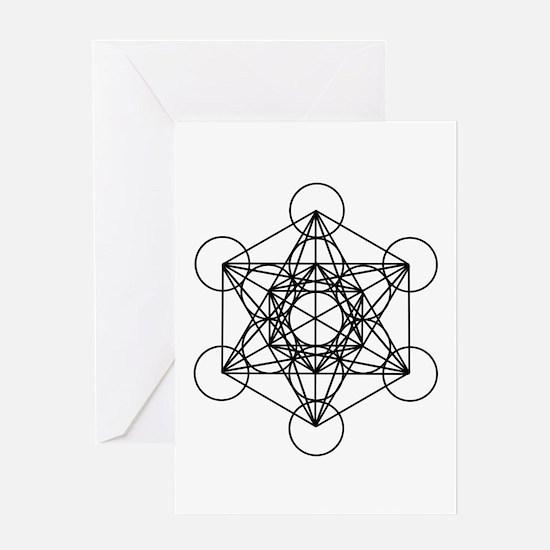 Metatron Cube Card Greeting Cards