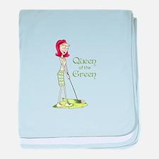 Queen Of The Green baby blanket
