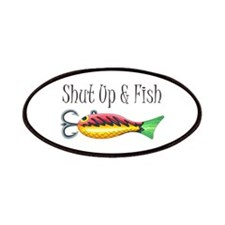 SHUT UP & FISH Patches