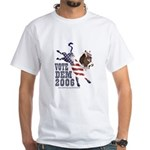 Vote dem 2006 Kicking Donkey White T-shirt