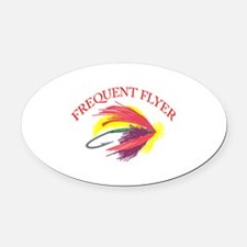 FREQUENT FLYER Oval Car Magnet