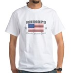 Rhinops Special Forces White T-shirt flag