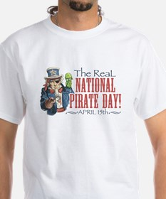 National Pirate Day White T-shirt