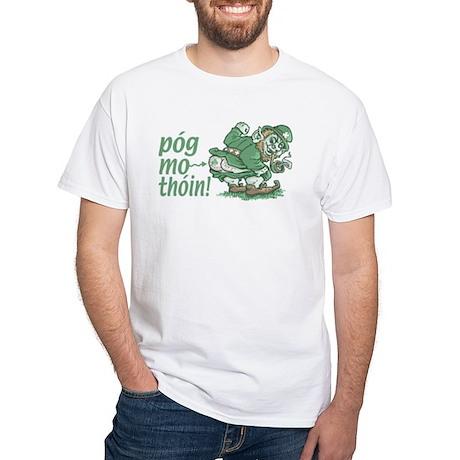 Pog Mo Thoin Irish White T-shirt 2