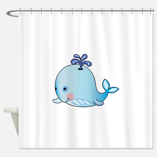 BABY WHALE Shower Curtain