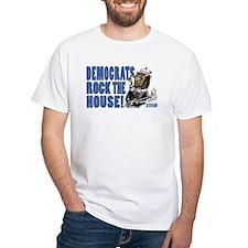 Democrats Rock Donkey White T-shirt 3