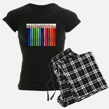 rainbow colored pencils whit Pajamas