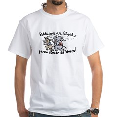 Politicians are Stupid White T-shirt 2