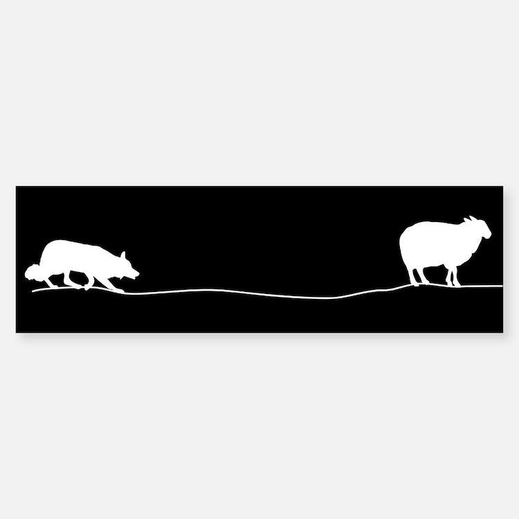 Sheep Herding Bumper Bumper Bumper Sticker