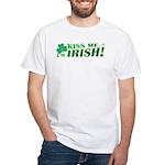 Kiss Me Shamrocks White T-Shirt