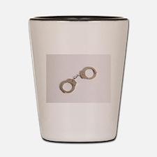 silver handcuffs Shot Glass