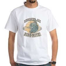 Boys Dinosaur R Dino-Mite White T-shirt