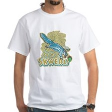 Sycho Skwerl Squirrel White T-shirt Blue
