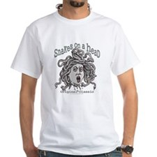 Snakes on a Head Classic White T-shirt 2